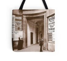 Posters 1880s Altes Burgtheater Eingang 1880  Tote Bag