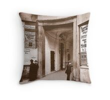 Posters 1880s Altes Burgtheater Eingang 1880  Throw Pillow