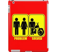 Problem solved motorbike geek funny nerd iPad Case/Skin