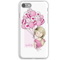 Cutie Pie with Balloons iPhone Case/Skin
