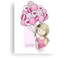 Cutie Pie with Balloons Canvas Print