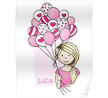 Cutie Pie with Balloons Poster