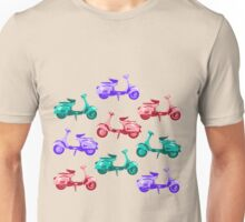 Sixties Multi Scooters Unisex T-Shirt