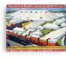 Poster 1890s Barnum & Bailey greatest show on Earth poster USSR Canvas Print