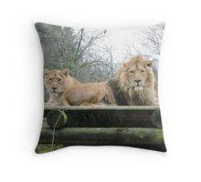 Mr & Mrs (Lion) Throw Pillow
