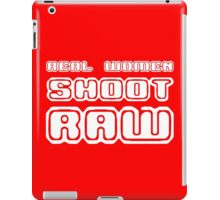 Real women shoot raw geek funny nerd iPad Case/Skin