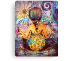 Rainbow Meditation Canvas Print