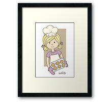 Cutie Pie Baker Girl Framed Print