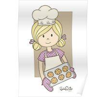 Cutie Pie Baker Girl Poster