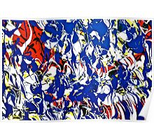 Abstract painting by Scott Johnson Poster