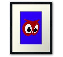 Red owl vintage red owl food stores geek funny nerd Framed Print
