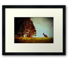 All in the moonlight pale ... Framed Print