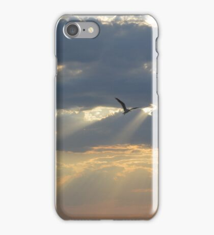 The sun shining through the clouds  iPhone Case/Skin