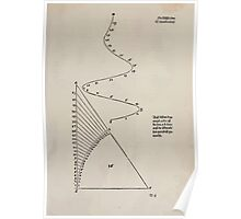 Measurement With Compass Line Leveling Albrecht Dürer or Durer 1525 0019 Spiral and Ray Poster