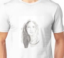 Girl smile pencil drawing Unisex T-Shirt