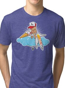 Bubs is on his way Tri-blend T-Shirt