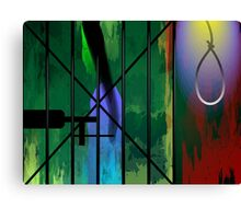 Sadness of a  woman on Capital punishment Canvas Print