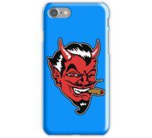 Retro devil head geek funny nerd iPhone Case/Skin