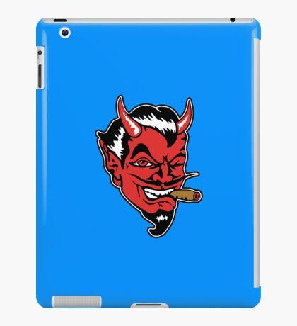 Retro devil head geek funny nerd iPad Case/Skin
