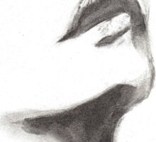 woman face pencil drawing Sticker