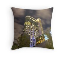Crown Casino and night sky Throw Pillow