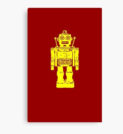 Retro robot geek funny nerd Canvas Print