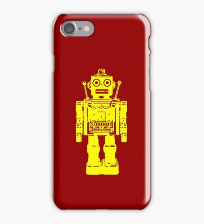 Retro robot geek funny nerd iPhone Case/Skin