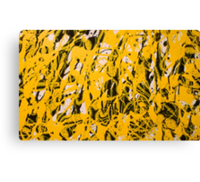 Yellow & Black Abstract Canvas Print