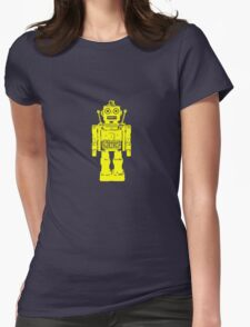 Retro robot geek funny nerd Womens Fitted T-Shirt