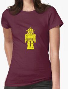 Retro robot geek funny nerd Womens Fitted T-Shirt