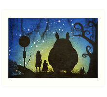 Small Spirits (Totoro) Art Print