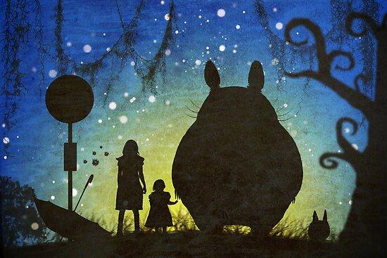 Small Spirits (Totoro) by Steph Enbom