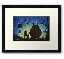 Small Spirits (Totoro) Framed Print
