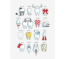 Dental Definitions Photographic Print