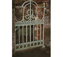 Pale Green Gate - Salisbury Photographic Print
