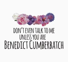 don't even talk to me unless you are benedict cumberbatch Kids Clothes