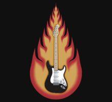 Guitar in Flames by bradyarnold