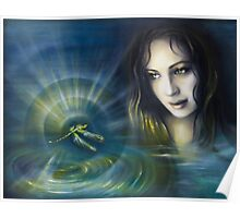 Dragonfly Dreamtime Poster