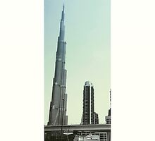 Grey and Sky Blue Burj Khalifa by expansesocial