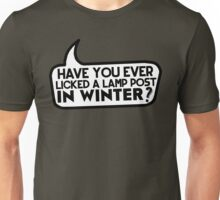 Lamp Post in Winter Unisex T-Shirt