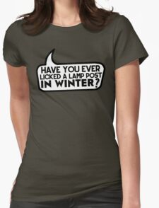 Lamp Post in Winter Womens Fitted T-Shirt