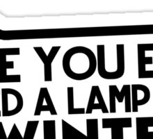 Lamp Post in Winter Sticker