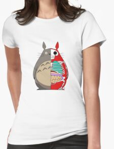 Totoro Dissected Womens Fitted T-Shirt