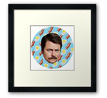 Ron N Bacon N Eggs Framed Print