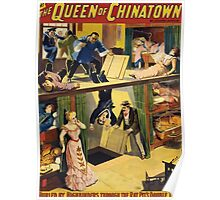 Poster 1890s  …trialsanderrors The Queen of Chinatown by Joseph Jarrow Broadway poster 1899 Poster