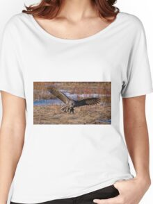 Great Gray Owl in Flight - Ottawa, Ontario - 2 Women's Relaxed Fit T-Shirt