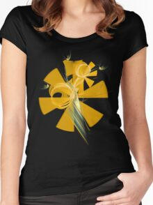Sunny fractal flowers Women's Fitted Scoop T-Shirt