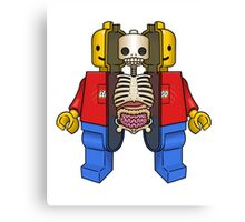 Lego Man Dissected Canvas Print