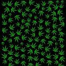 Cannabis / Marijuana Leaf Pattern by Valxart