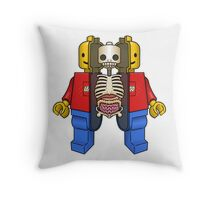 Lego Man Dissected Throw Pillow